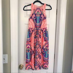 Mara Hoffman Bright Geometric Print Dress